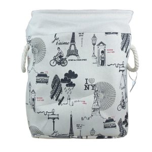 Laundry Basket Fabric Foldable Small-0