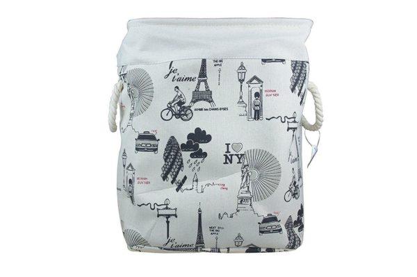Laundry Basket Fabric Foldable Small-0