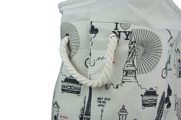 Laundry Basket Fabric Foldable Small-593