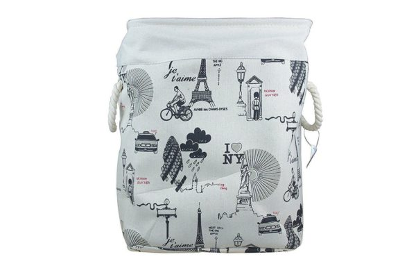 Laundry Basket Fabric Folding Medium-0