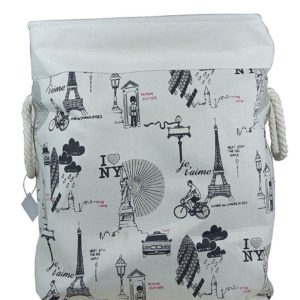 Laundry Basket Fabric Foldable Large-0