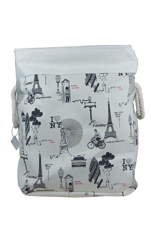 Laundry Basket Fabric Foldable Large-0