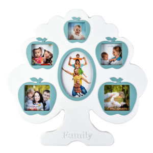 Arpan Tree Style Multi Aperture Photo Frame -BLUE-0