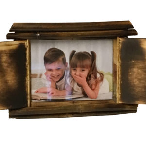Photo Frame Wooden Bamboo with Shutter-0