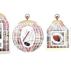 Photo Frame Vintage Birdcage White-0