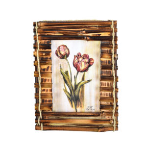 """Photo Frame Rusitc Wooden Bamboo 4x6""""-0"""