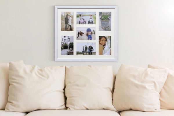 "Photo Frame 7 Aperture White 4x6""-6586"