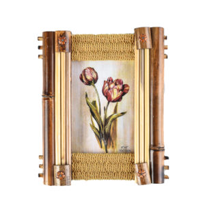 """Photo Frame Wooden Bamboo 4x6""""-0"""