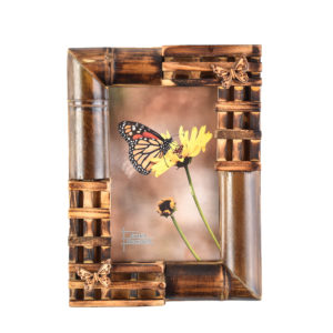 """Photo Frame Butterfly Bamboo 4x6""""-0"""