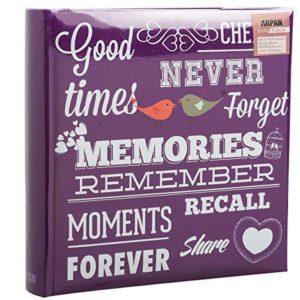 Photo Album Slip In Purple Memories 6x4'' x 200 Holds-0
