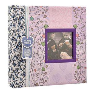 Photo album 6 x 4'' x 200 hold wedding memo book floral photo albums-0
