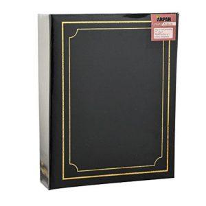 """Photo Album 4x6"""" Slip in Black 200 Photos-0"""