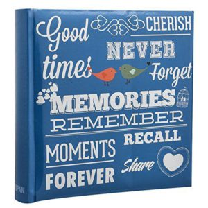 Photo Album Blue Memories 6x4'' x 200 Hold Slip In Memo Album -0