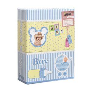 Photo album blue baby boy 6 x 4'' x 100 hold slip in album x 2-0