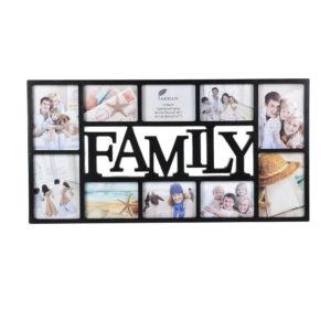 Photo Frame 10 Aperture Family Black Pack 2-0