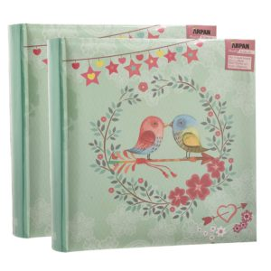 "Photo album 4x6"" slip in memo 200 photos vintage birds pack 2 -0"
