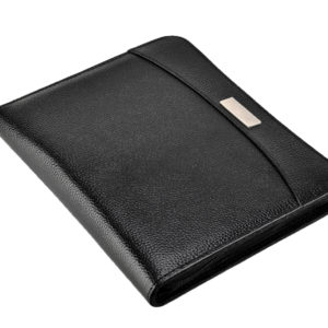 A5 Conference Folder Portfolio Black with Calculator, Pad & 100 Punched Pockets-4902