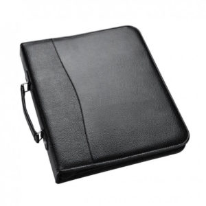 Portfolio A4 Black Ring Binder with Zip -0