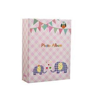 Photo album elephant kids baby pink 6x4'' x 100 hold slip in album -0
