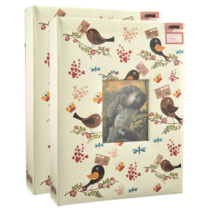 "Photo Album Slip in Birds 5x7"" Holds 200 Photos Pack 2-0"