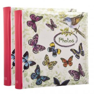 "Memo slip in 4x6"" butterfly hold 200 photos pack 2-0"