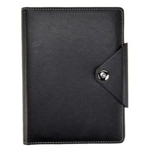 A5 Executive Personal Organiser with Stud Button Black -0