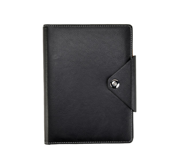A5 Executive Personal Organiser with Stud Button Black -4118
