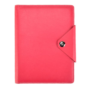 A5 Executive Personal Organiser with Stud Button Pink-0
