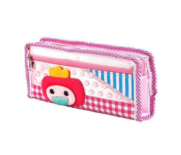 Pencil case pouch pink-4764