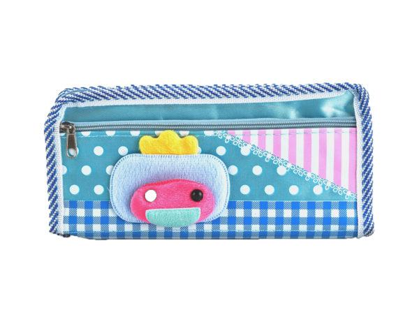 Pencil case pouch blue-0