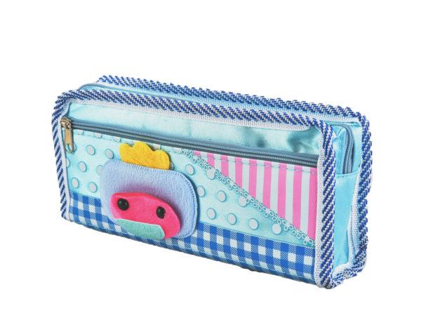 Pencil case pouch blue-4762