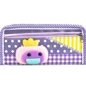 Pencil case pouch purple-0