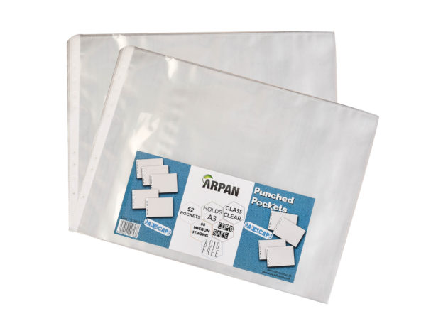 A3 Landscape Plastic Poly Pockets Wallet Sleeves Clear Pack of 52-4857