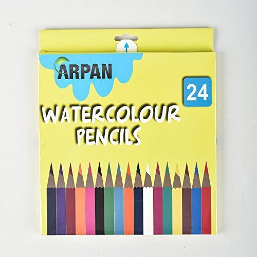 Watercolour Pencils Asstorted Colours Pack of 24-3125