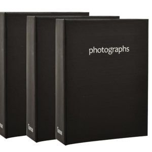 Photo album black 6x4'' x 100 hold slip in album x 3-0