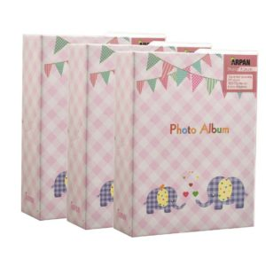 Photo album elephant kids baby pink 6x4'' x 100 hold slip in album x 3-0