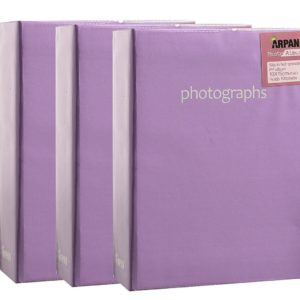 Photo album purple 6x4'' x 100 hold slip in album x 3-0