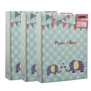 Photo album elephant baby blue 6x4'' x 100 hold slip in album x 3-0