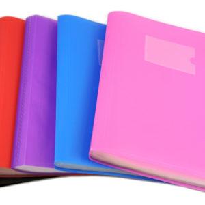 Presentation display folder A4 104 pockest assorted pack 6-0