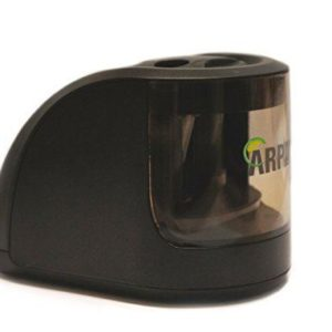 Double hole battery operated pencil sharpener black -0