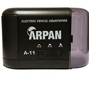 Pencil Sharpener Electric and Battery Operated Automatic Black-0