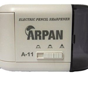 Pencil Sharpener Electric and Battery Operated Automatic White-0