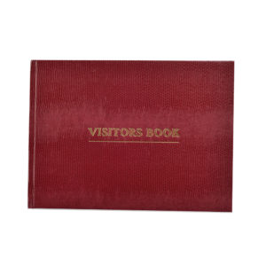 Visitor Book Burgundy -0
