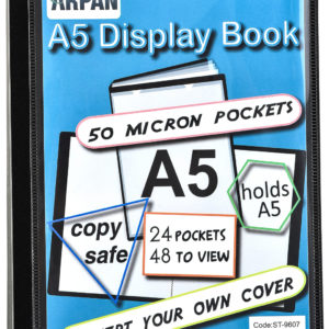 Display Book A5 24 Pockets Presentation Folder Black -0
