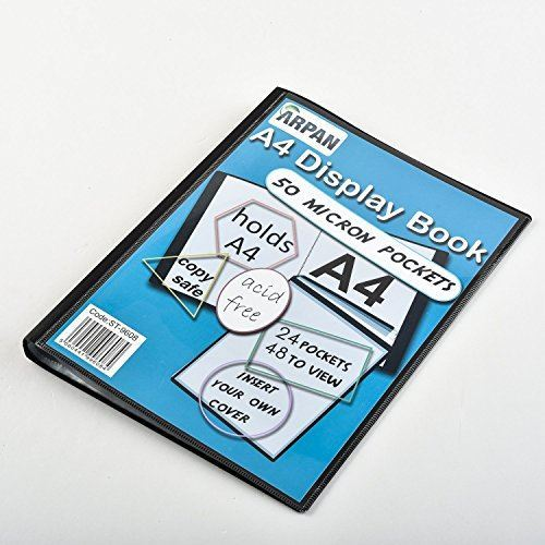 Display Book A4 24 Pockets Presentation Folder Black Pack 6-3441