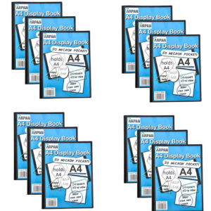 Display Book A4 24 Pockets Presentation Folder Black Pack 12-0