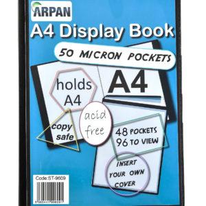 Display Book A4 48 Pockets Presentation Folder Black -0