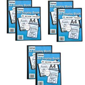 Display Book A4 48 Pockets Presentation Folder Black Pack 6-0