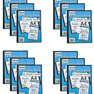Display Book A4 48 Pockets Presentation Folder Black Pack 12-0
