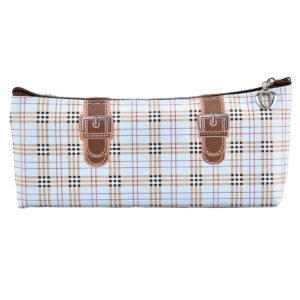 Pencil case with zipper clousre brown-0